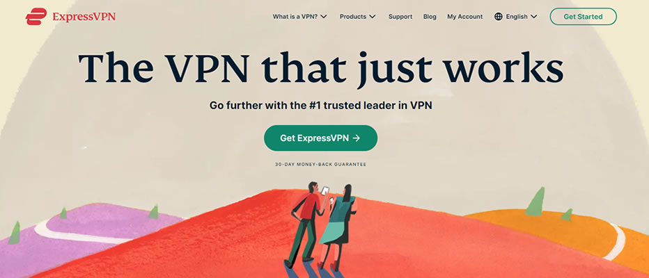 image of the ExpressVPN homepage