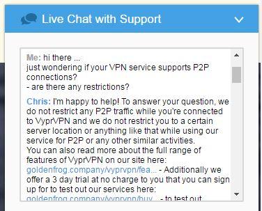 VyprVPN - Live Chat