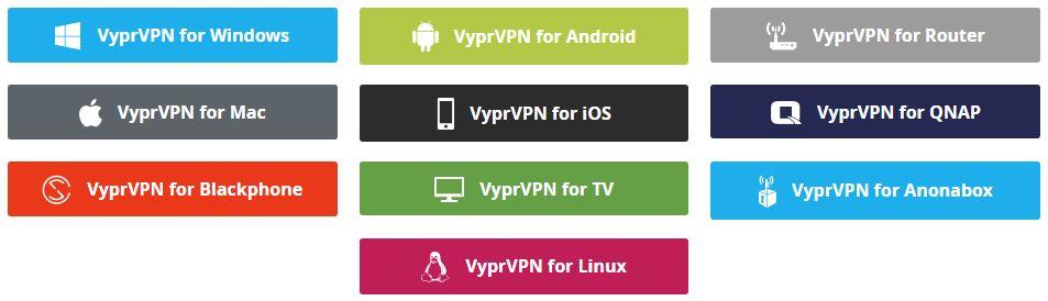 VyprVPN - supported devices