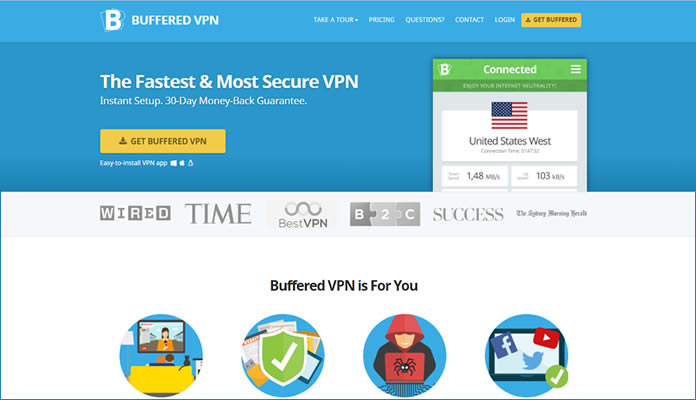 Buffered VPN service