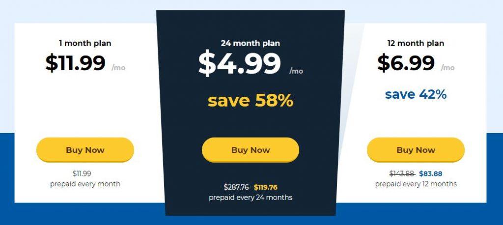 HideMyAss VPN - prices - January 2019