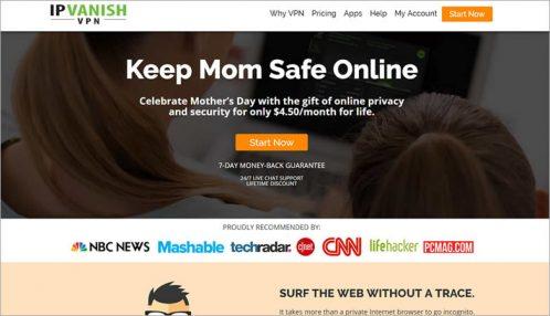 IPVanish - homepage