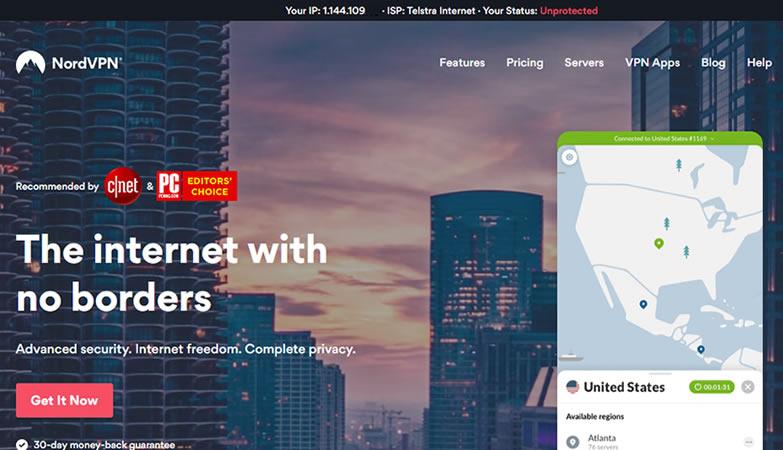 NordVPN - homepage