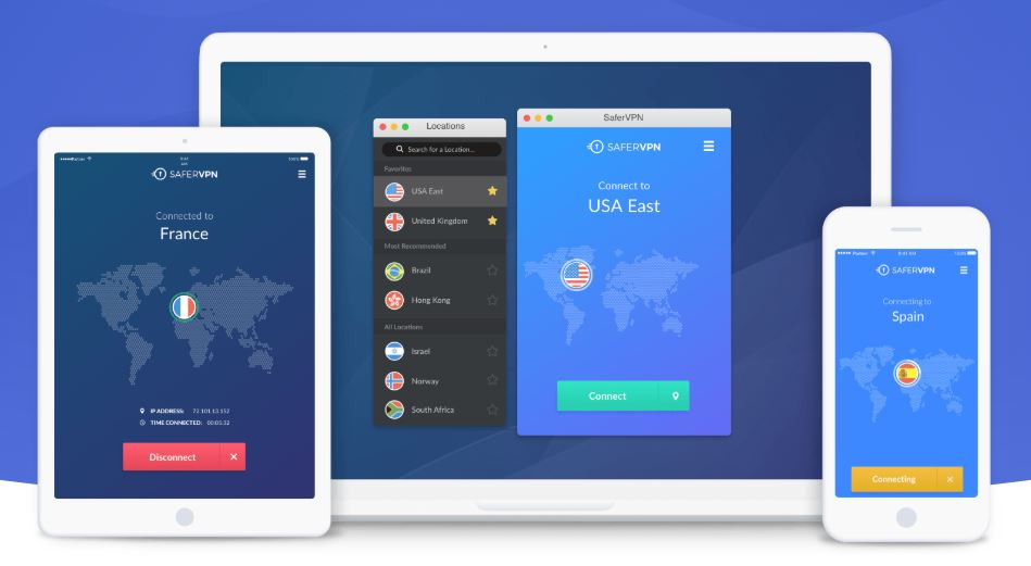 SaferVPN - supported apps - January 2019
