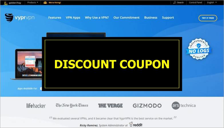 VyprVPN - discount coupon