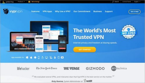 VyprVPN - homepage